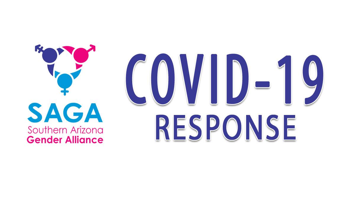 SAGA logo with text COVID-19 Response
